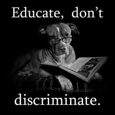 Educate, Don't Disriminate...love Pitbulls