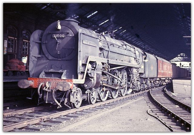 4-6-2 No. 71000 'Duke of Gloucester' at Preston Station. June 6, 1961.(Tony Gillett)