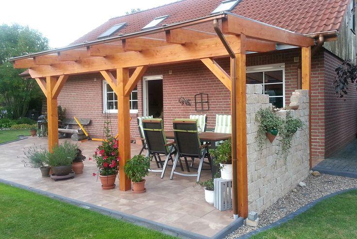 Terrassenüberdachung Wandanbau aus Holz online be…