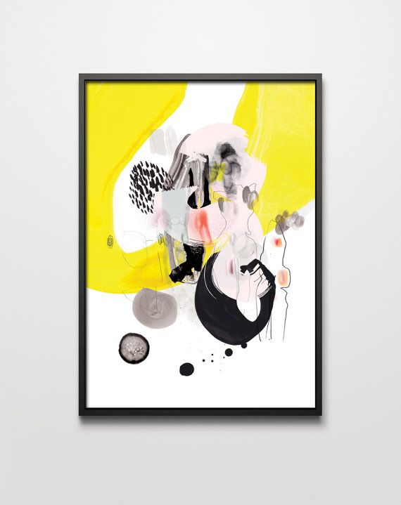 graphic Forms X. graphic art giclée signed print. by PrintlovePL