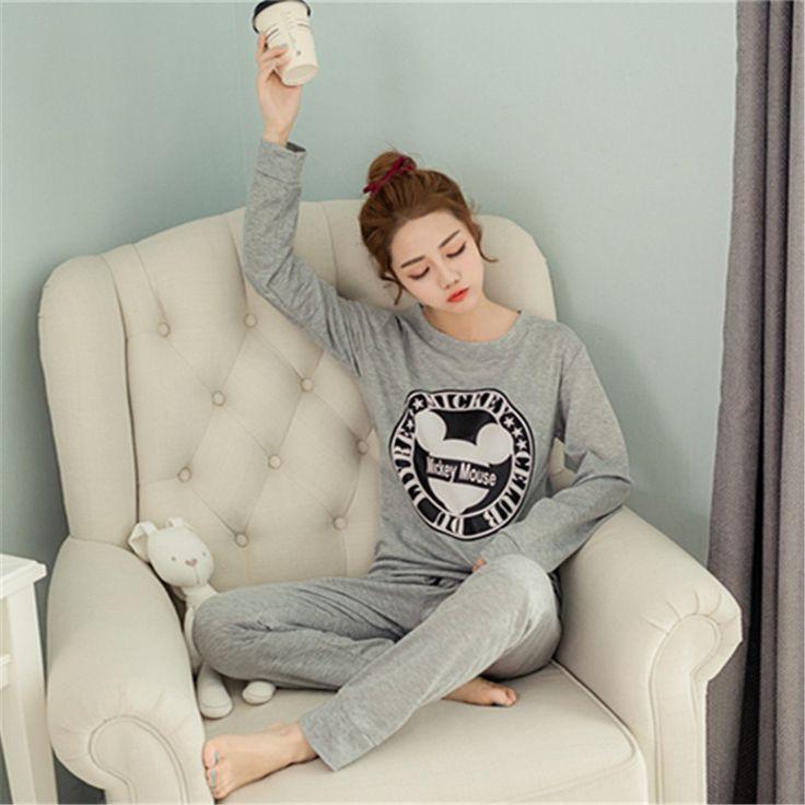 New 2016 Autumn Winter Women's Long Sleeve Pyjama Sets Women Sleepwear Pajamas for woman casual sleep lounge girls pijama mujer