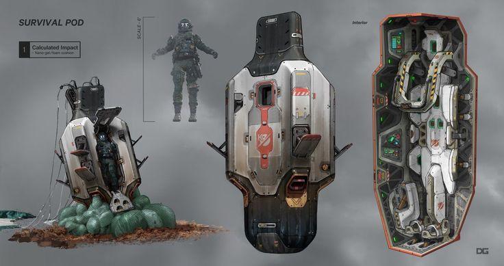 ArtStation - Titanfall 2 Drop pod, Danny Gardner | Concept ...