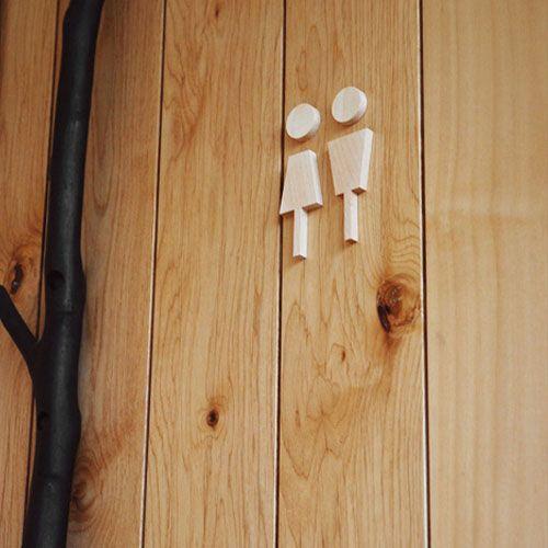 【到着後レビューでメール便送料無料】シンプル志向のトイレサイン [Toilet Sign] H190 【トイレ トイレ用 ドア 貼り付け 案内表示 インテリア雑貨 木製 北欧 テイスト おしゃれ】【楽ギフ_包装】【母の日 ギフト】【あす楽_日曜営業】10P26Apr14【楽天市場】
