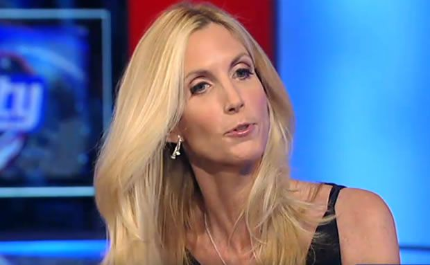 """Ann Coulter vs. reality: """"The Klan and Stormfront only have, like, seven members"""". Seriously, can any human really be this stupid???????"""