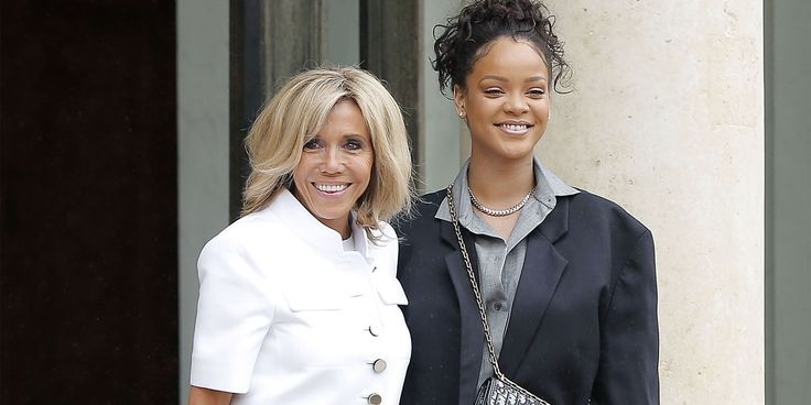 Both wore suit jackets for the occasion.Last month, Rihanna sent out a round of tweets to several world leaders, including France's newly elected President Macron, urging them to commit to funding education. As a result, the singer paid a special visit today to Élysée Palace in Paris to meet with bot