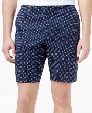 Michael Kors Men's Pindot Bermuda Shorts - Blue 30