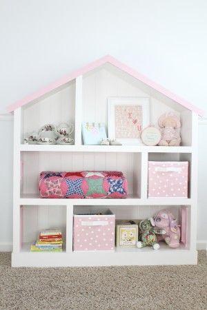 DIY Dollhouse Bookcase Tutorial