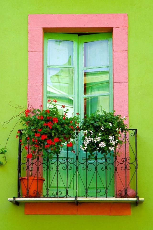 I want a Mediterranean style house so I can paint it these colors. Bright and beautiful.