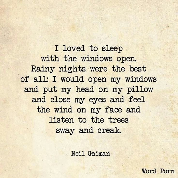 It sounds like a beautiful way to drift off to sleep, but I grew up in Baltimore. Only fools leave their windows open in Baltimore...LOL