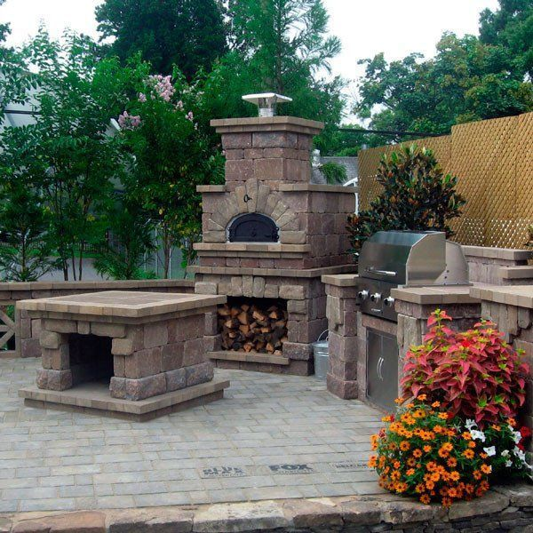 Chicago Brick Oven 750 Outdoor Pizza Oven Kit Outdoor Pizza Oven Kits Outdoor Kitchen Design