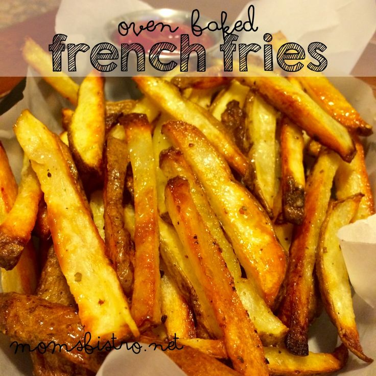 The Secret to Perfect Crispy On The Outside, Fluffy On The Inside French Fries! Crispy Oven Baked French Fries Recipe - Mom's Bistro