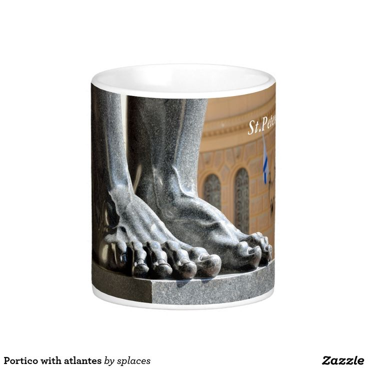 Portico with atlantes. Winter Palace (Hermitage). Saint Petersburg, Russia. coffee mug