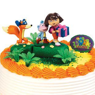 Best Dora The Explorer Images On Pinterest Birthday Party - Dora birthday cake toppers