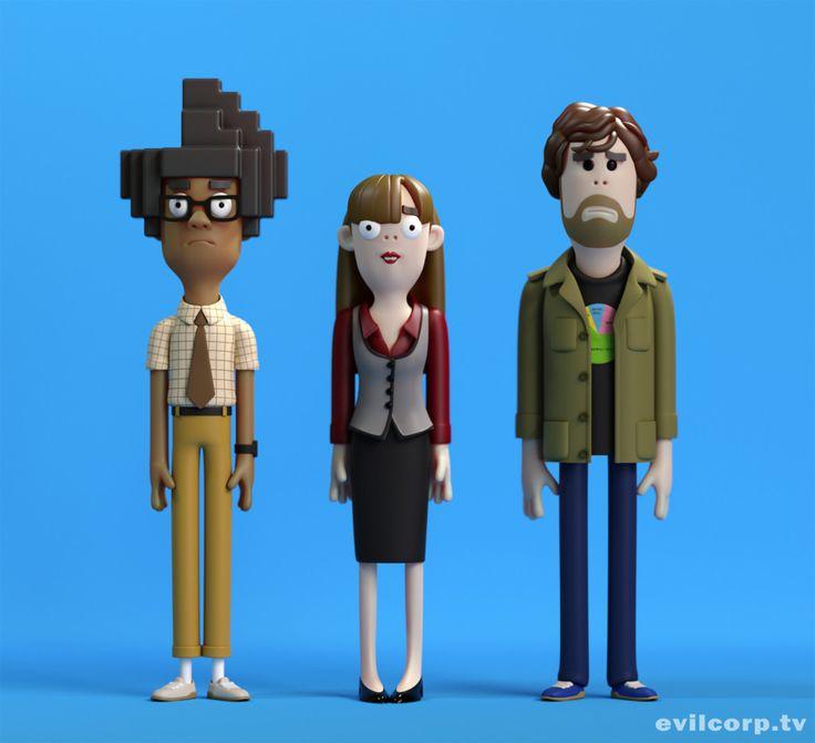 Seth Watkins / The IT Crowd #3D #render #character