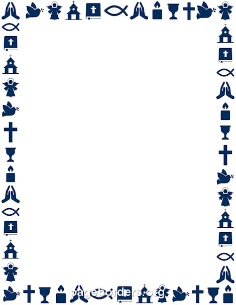 Printable Christian border. Use the border in Microsoft Word or other programs…