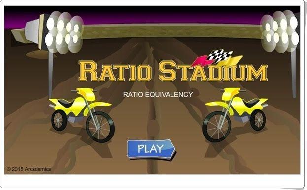 """""""Ratio Stadium"""" es un juego, de arcademics.com, en el que competiráa con otros motociclistas en una carrera en la que has de encontrar las relaciones numéricas proporcionales a la propuesta con acierto y rapidez."""