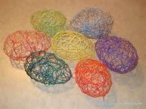 Make Sugar String Easter Eggs