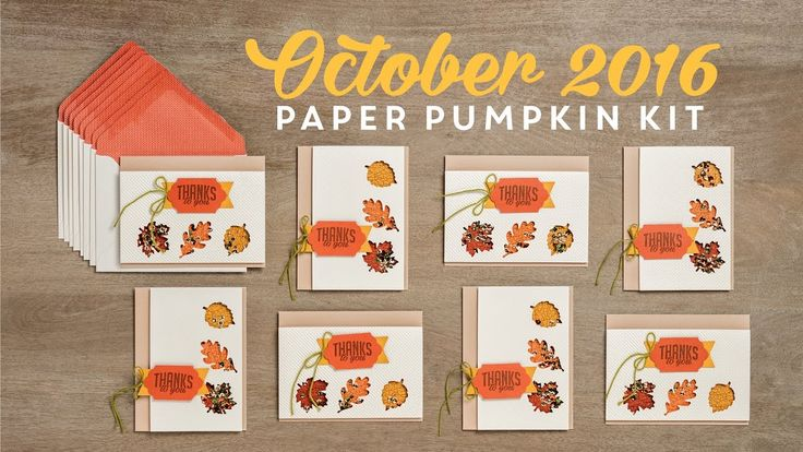 Paper Pumpkin October 2016  To sign up for Paper Pumpkin, go to https://www.paperpumpkin.com/en-us/sign-up/?demoid=2130686