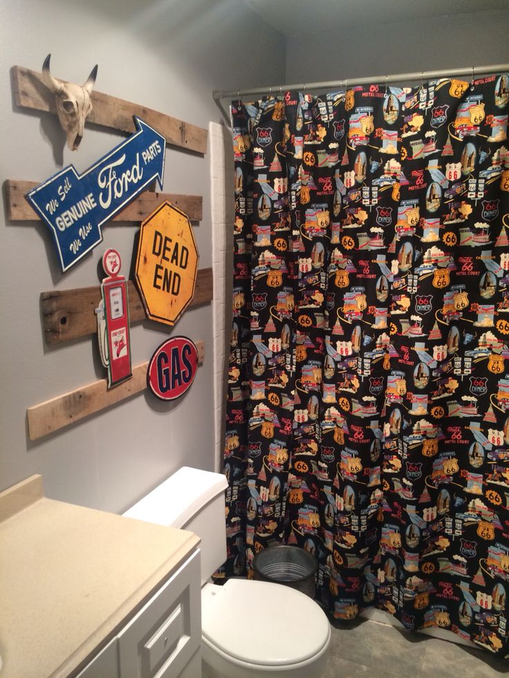route 66 bathroom decor - Bathroom Decorating Ideas For Guys