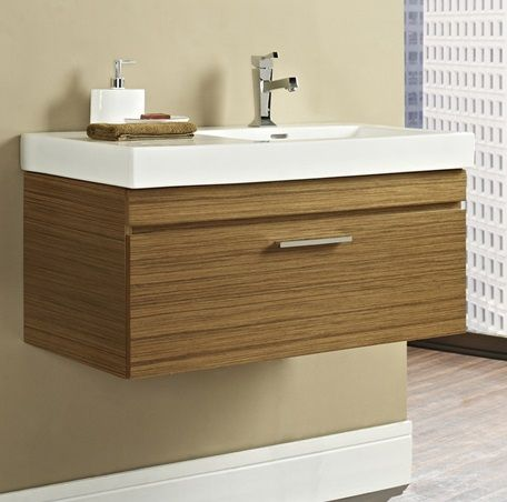 Fairmont Metropolitan Wall Mount Vanity And Sink Set (sink Offset Right)