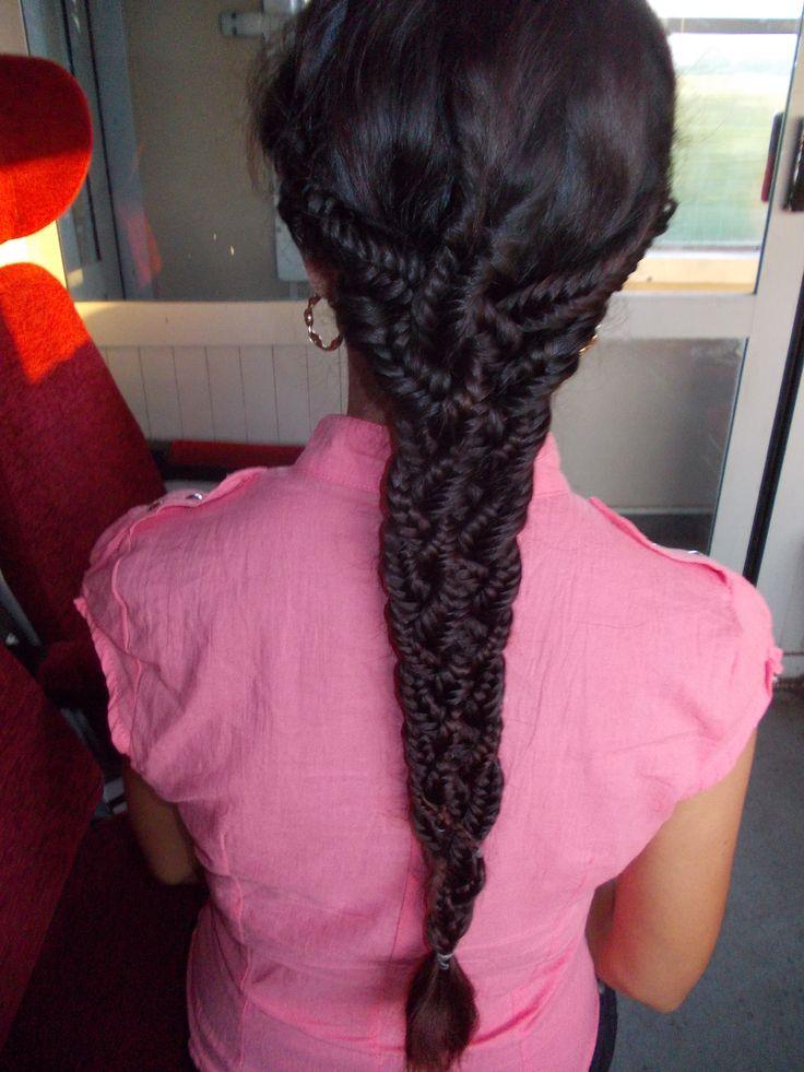 5 fishtails braided