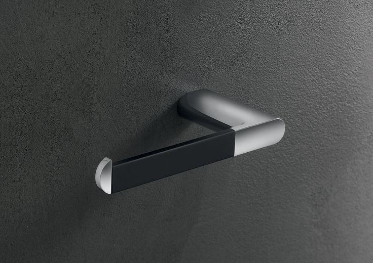 Mito toilet roll holder black A2025ABL