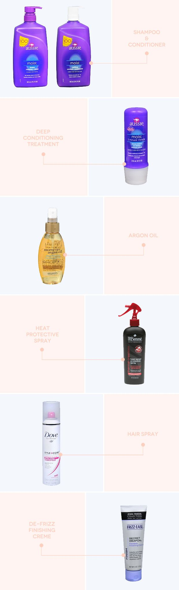 6 Must-Have Drugstore Hair Products- I will definitely vouch for the 3 Aussie products she recommends and I have been looking for a good hair protectant forever!