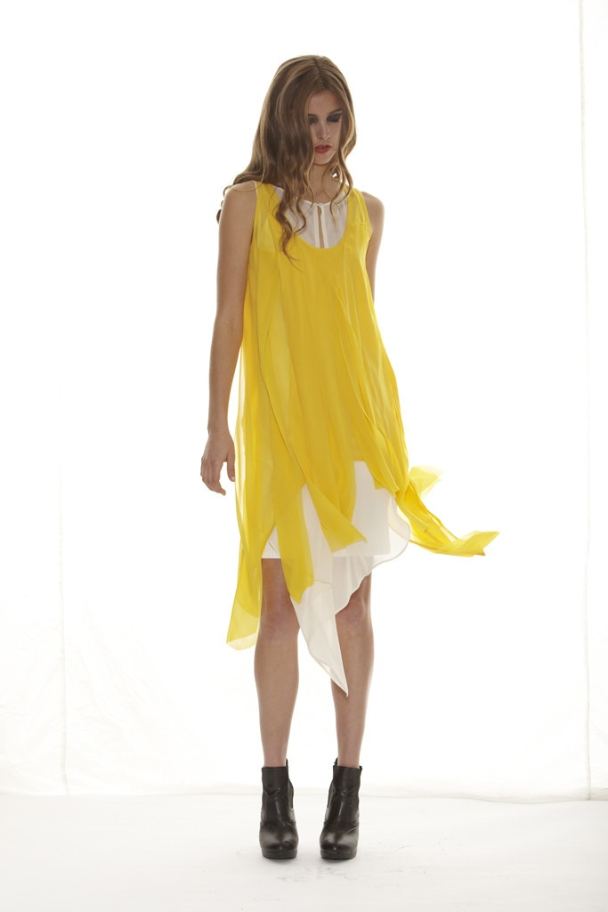 Taylor 'Shadow' Collection, Summer 12/13 www.taylorboutique.co.nz Waterfall Tunic in Sunshine