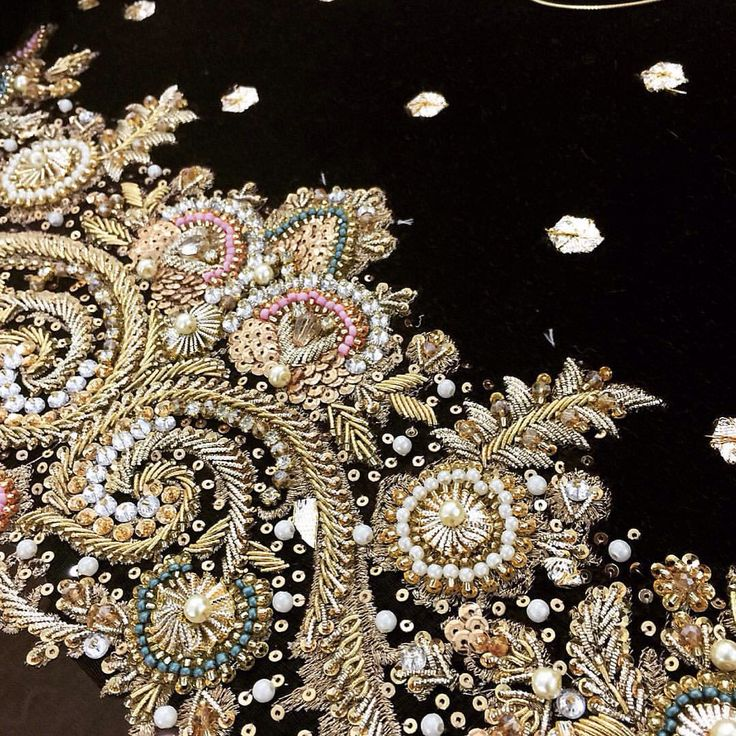 Saira rizwan beadwork embroidery art pinterest