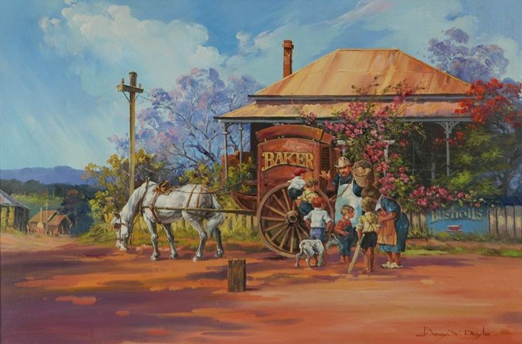 The Baker's Cart - My favorite, it reminds me of when I was a child and the baker would delivered the hot bread and his horse always knew which house to stop at.