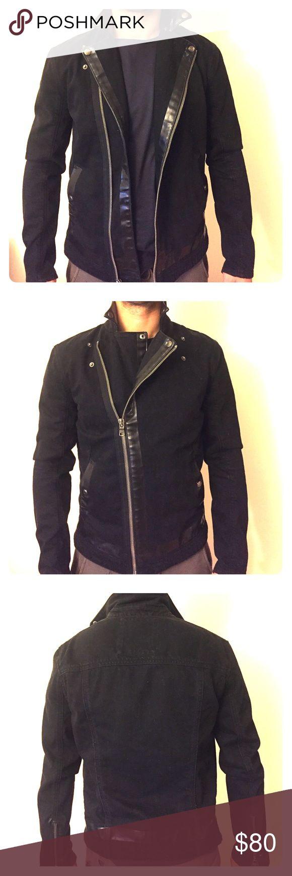 Armani Exchange Men's Black Jean Jacket Brand: Armani Exchange / color: black / material: jean, 100% cotton / pocket lining / size: medium / one time use, LIKE NEW. A/X Armani Exchange Jackets & Coats Lightweight & Shirt Jackets