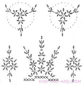 Free Embroidery Pattern: Small Lazy Daisy Stitch Patterns
