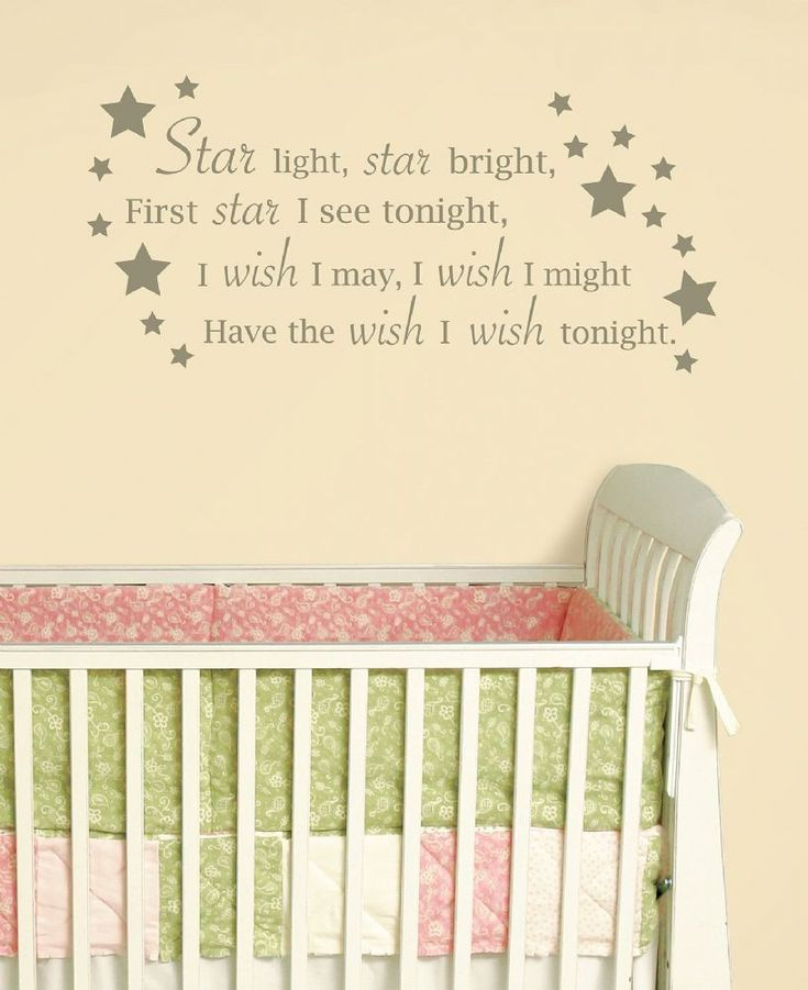 star light star bright wall wishes creates a beautiful focal point on your wall with