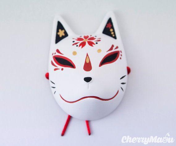Kitsune mask Japanese Fox for Pullip Blythe Dal by CherryMaou