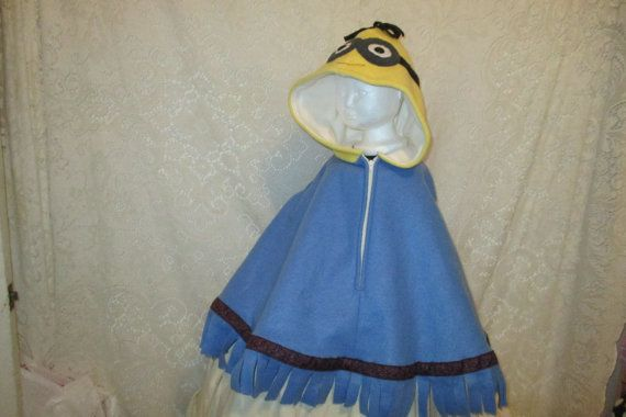Hey, I found this really awesome Etsy listing at https://www.etsy.com/listing/256630723/minion-character-poncho-size-4-6