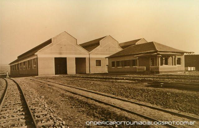 Pátio da Rede Ferroviária na divisa entre Porto União - SC e União da Vitória - PR em 1942.