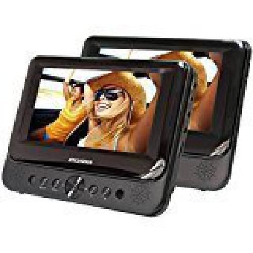 Portable DVD Player Dual Screen Built-In Stereo Speakers Electronics Accessory #DualElectronics