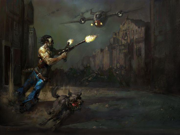 Fallout 2, Justin Sweet on ArtStation at https://www.artstation.com/artwork/gPQLG