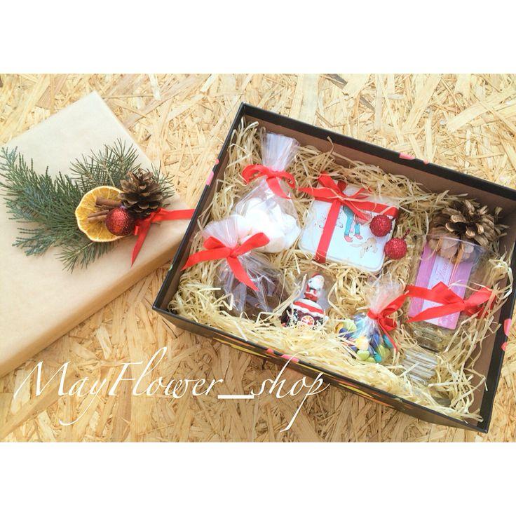 """Подарочный набор """"какао"""". Зефирки маршенмэллоу, шоколадные драже, шоколадные печеньки, баночка с какао. Подарки ручной работы"""