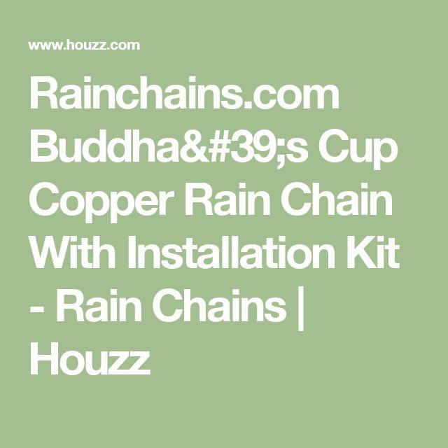 Rainchains.com Buddha's Cup Copper Rain Chain With Installation Kit - Rain Chains | Houzz