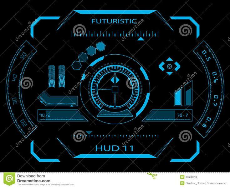 Interface Utilisateurs Futuriste HUD Photos libres de droits - Image: 38698318