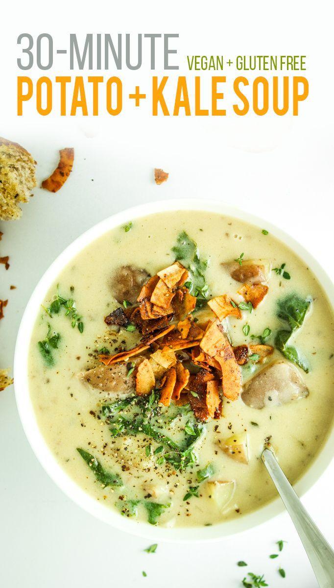 Dairy Free Potato Kale Soup Recipe Healthy Vegetarian Meals