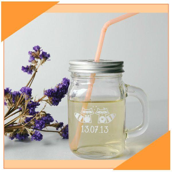 12 oz muratore jar potabile regalo di nozze tazza