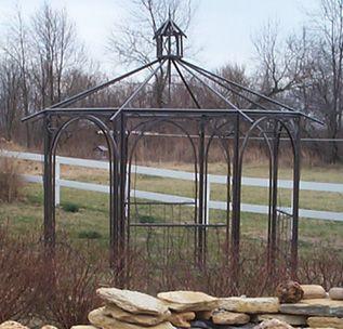 Gazebo Roofs | Prairie Art Metal - Outdoor Furnishings - Garden Art - Metal Gazebo