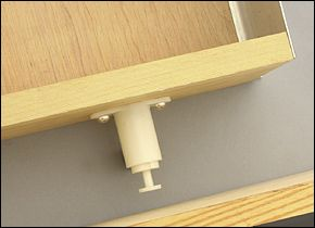 """Drawer Kicker - Hardware use this hardware to allow toekick drawer to self open with a slight """"kick"""""""