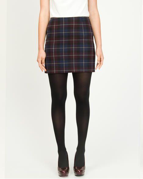 Le Château: Woven Plaid Mini Skirt
