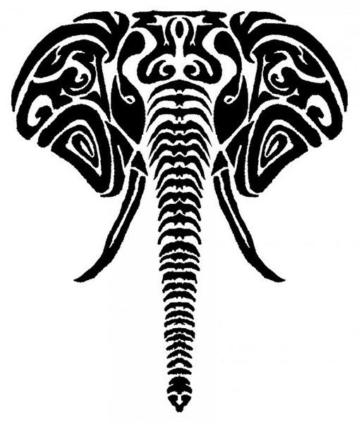 Image result for tribal elephant drawing