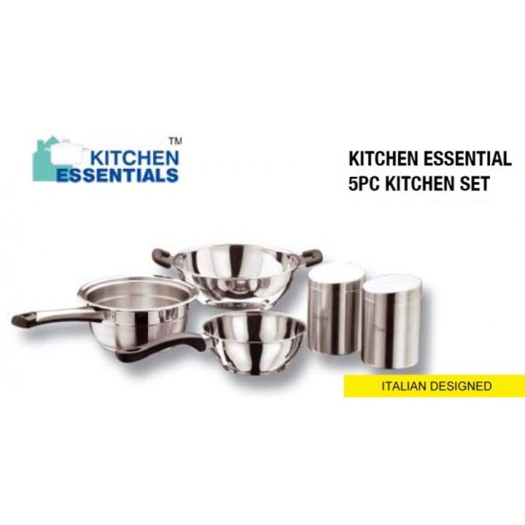 KITCHEN ESSENTIALS 5PCs KITCHENWARE SET High GFrade Cookware set  Premium Quality Stainless Steel  Heavy Induction Friendly Bottom  SET FEATURES:  Made of High Quality Stainless Steel  Cookware With Elegance and Functionality  Highly Suitable for The INDIAN Contemporary Home  Suitable for Induction Cook Top & Gas Burner.