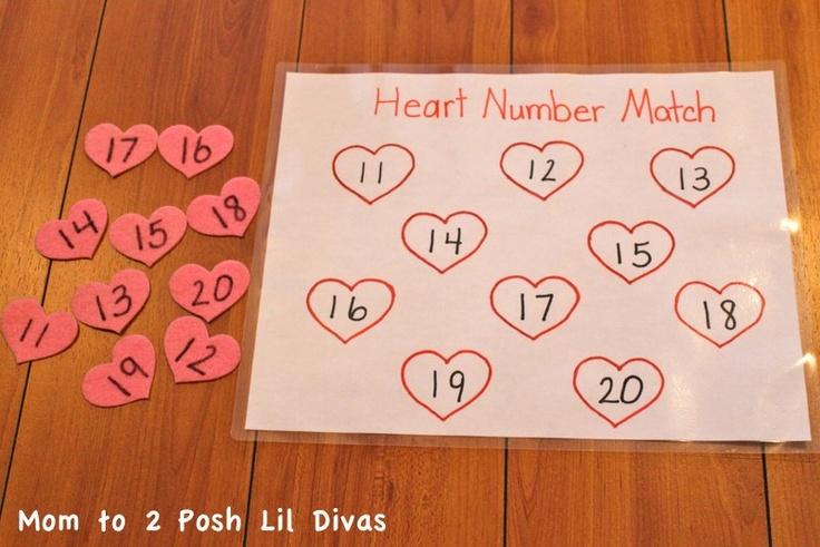 Valentine's Day Fun: Heart number match