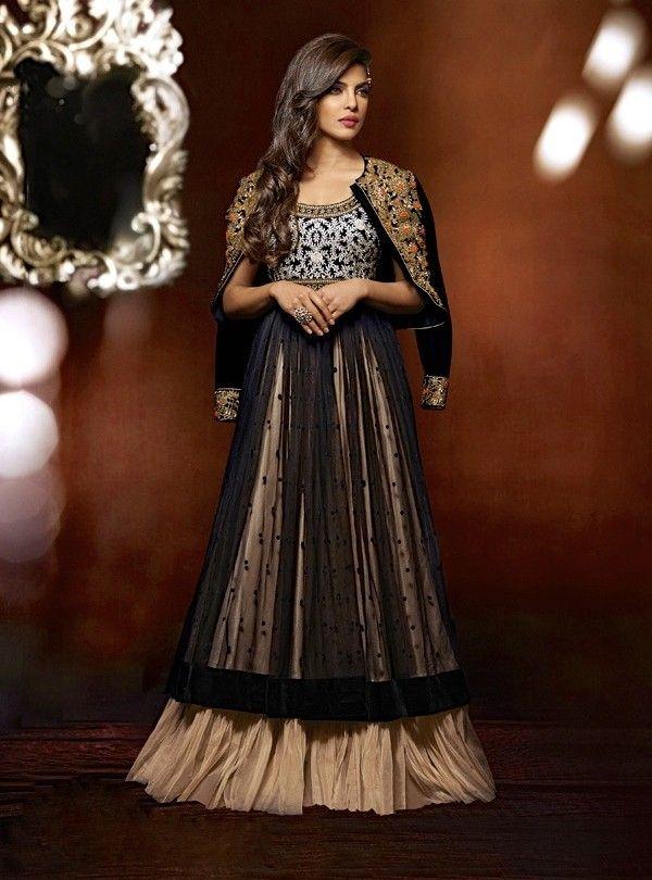Priyanka Black Floor Length Anarkali